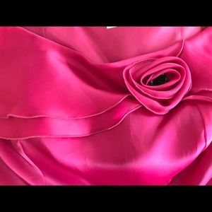 Cattiva Vintage Rose Silk Strapless Top Size 10